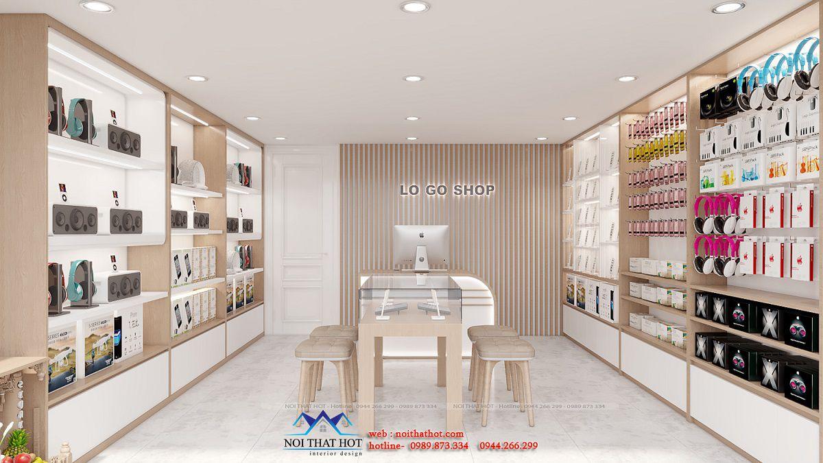 thiết kế shop phụ kiện điện thoại