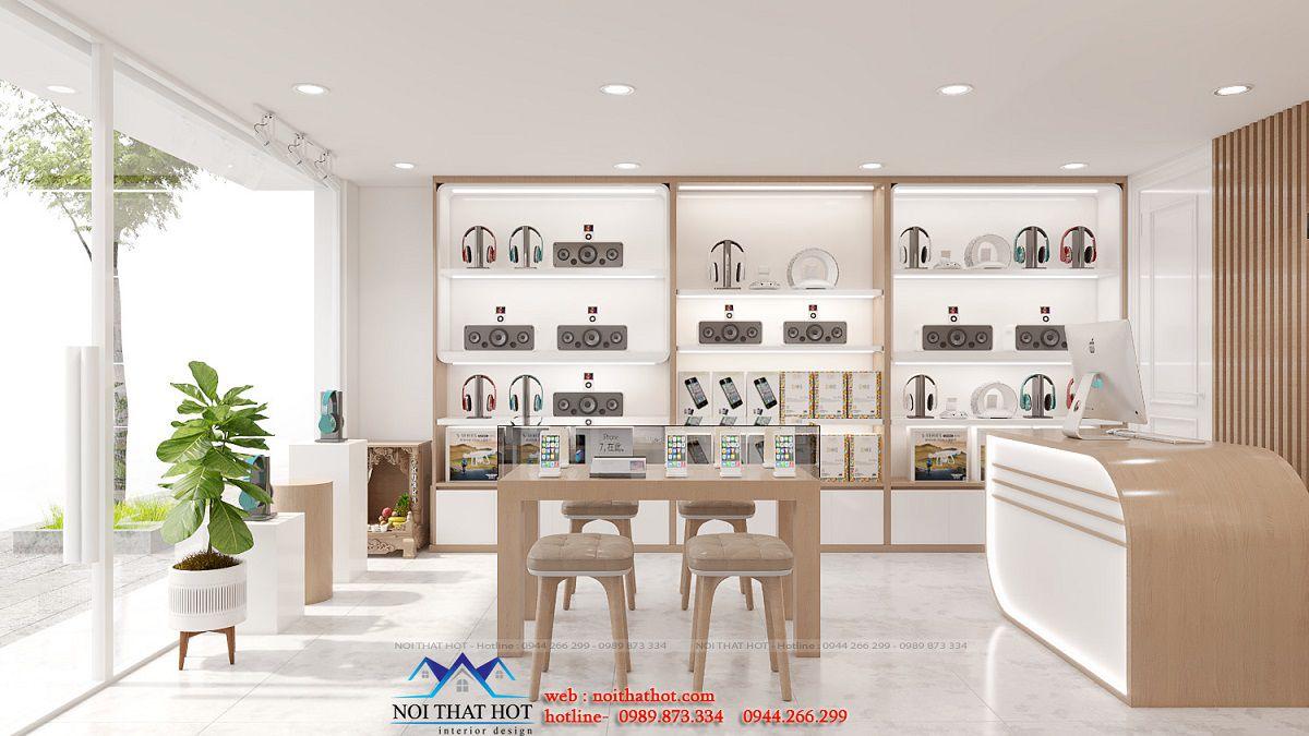 thiết kế nội thất shop phụ kiện điện thoại