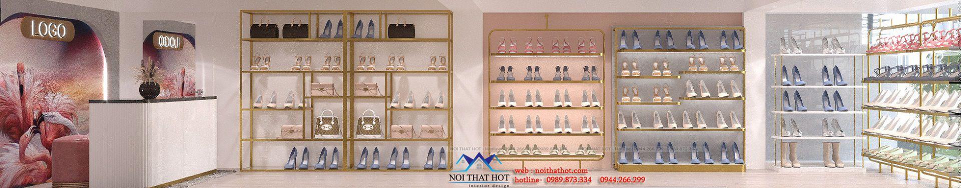 thiết kế cửa hàng giày túi xách