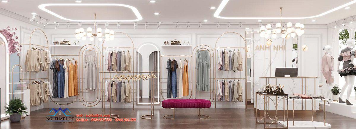 thiết kế shop thời trang nữ 35m2