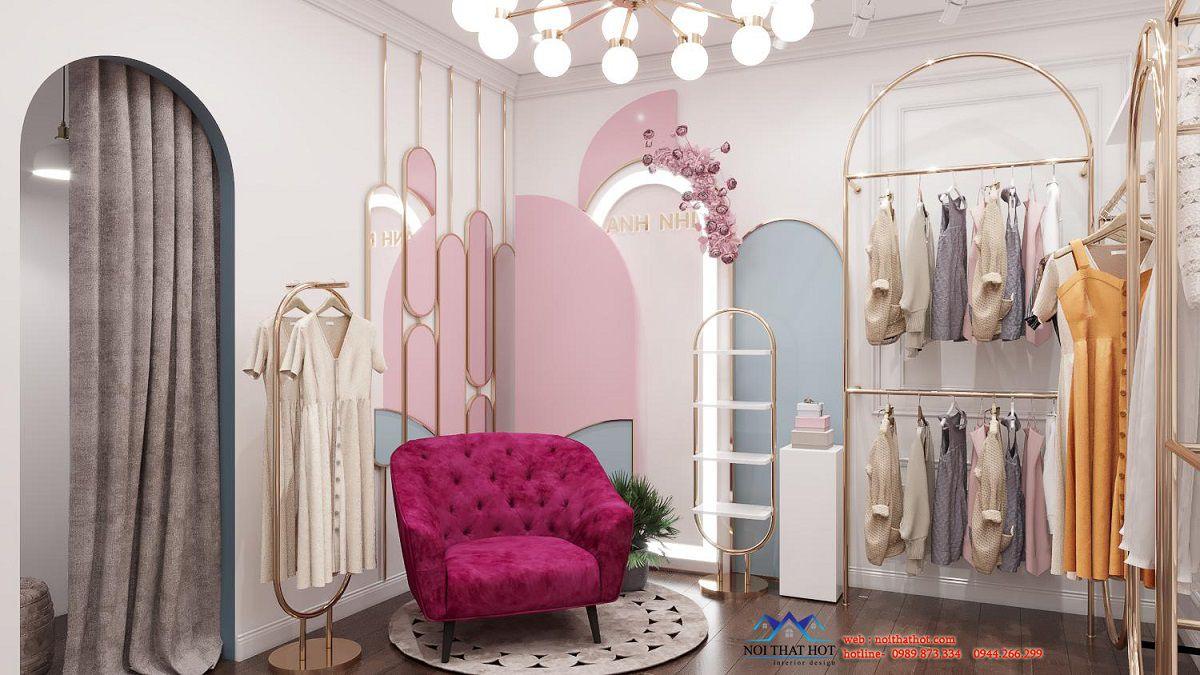 thiết kế góc livetream shop thời trang