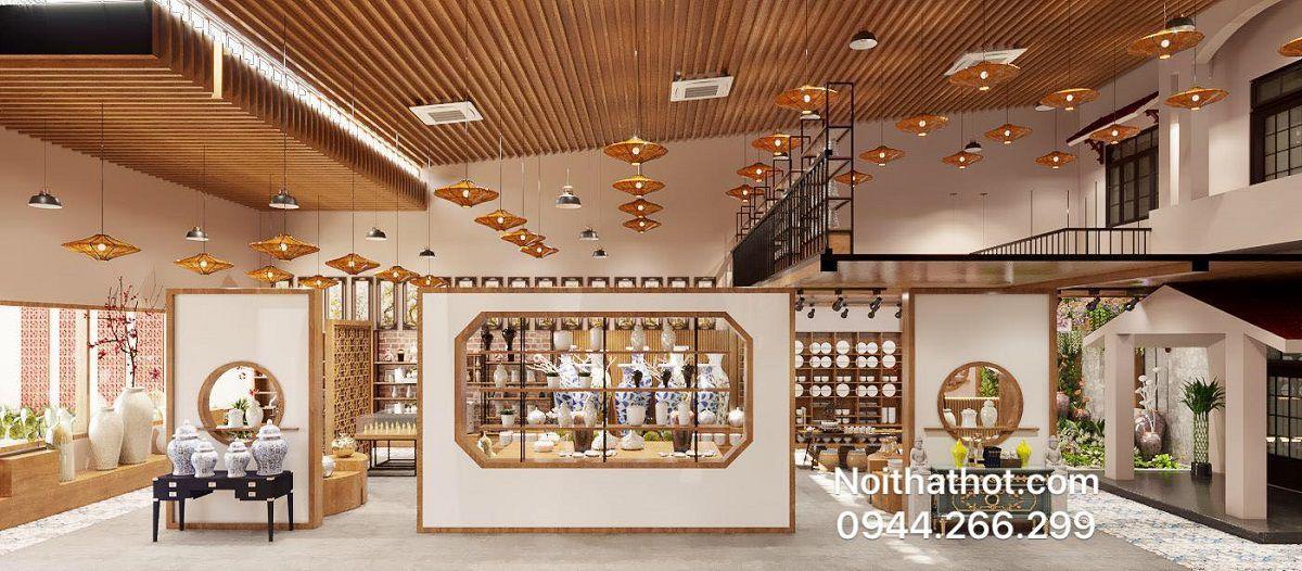 thiết kế showroom gốm sứ 400m2