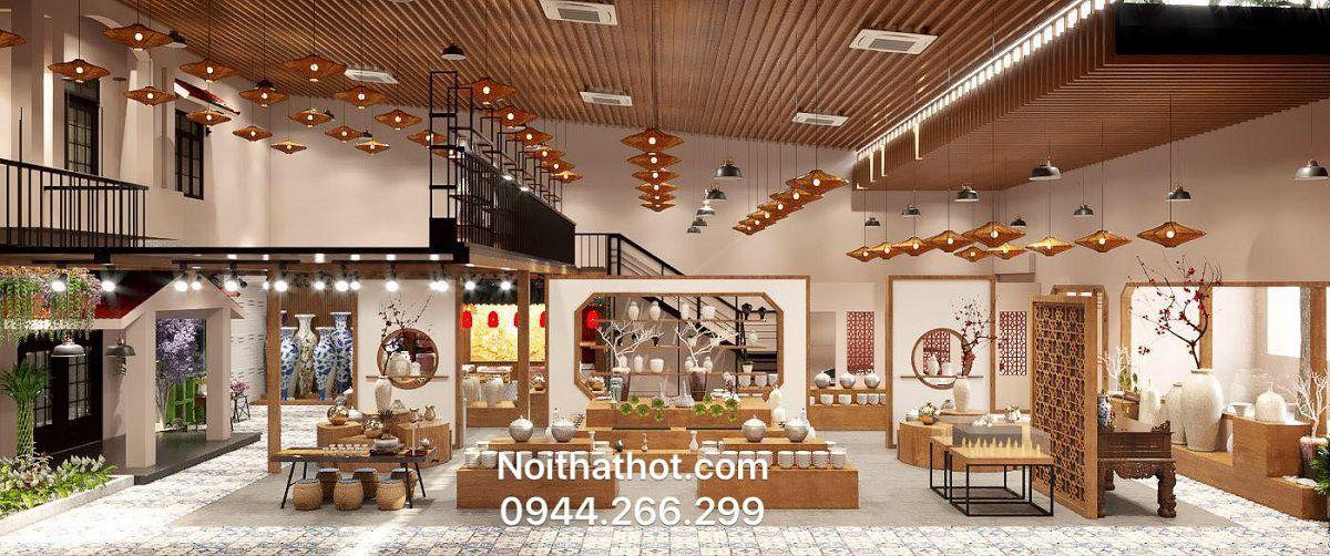 thiết kế showroom gốm sư cao cấp