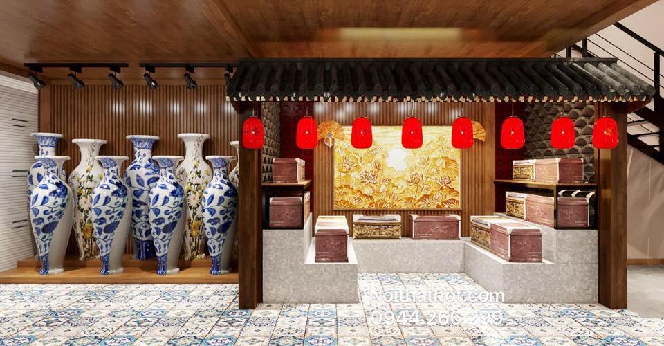 thiết kế showroom gốm sư Hà Nội