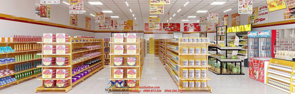 thiết kế nội thất siêu thị