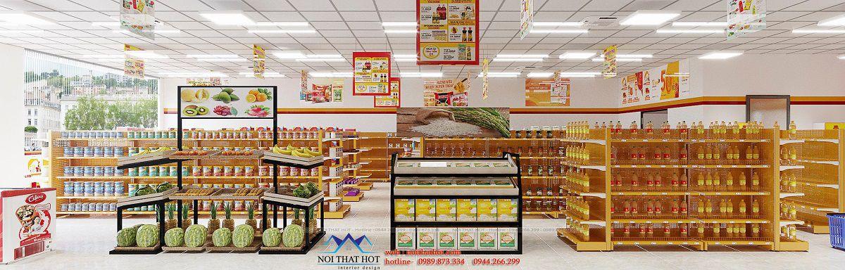 thiết kế siêu thị tại Hà Nam