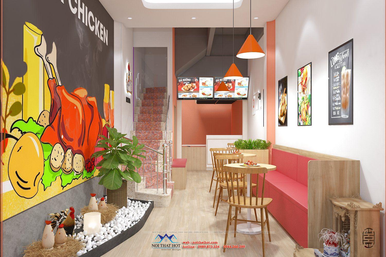 thiết kế cửa hàng gà nướng