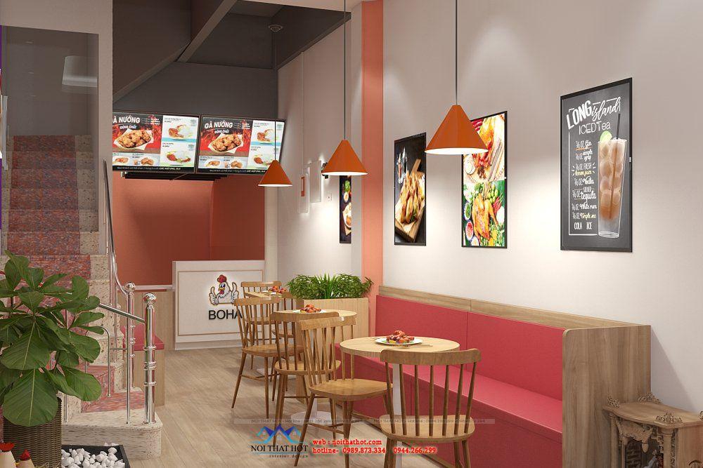 thiết kế cửa hàng ăn nhanh
