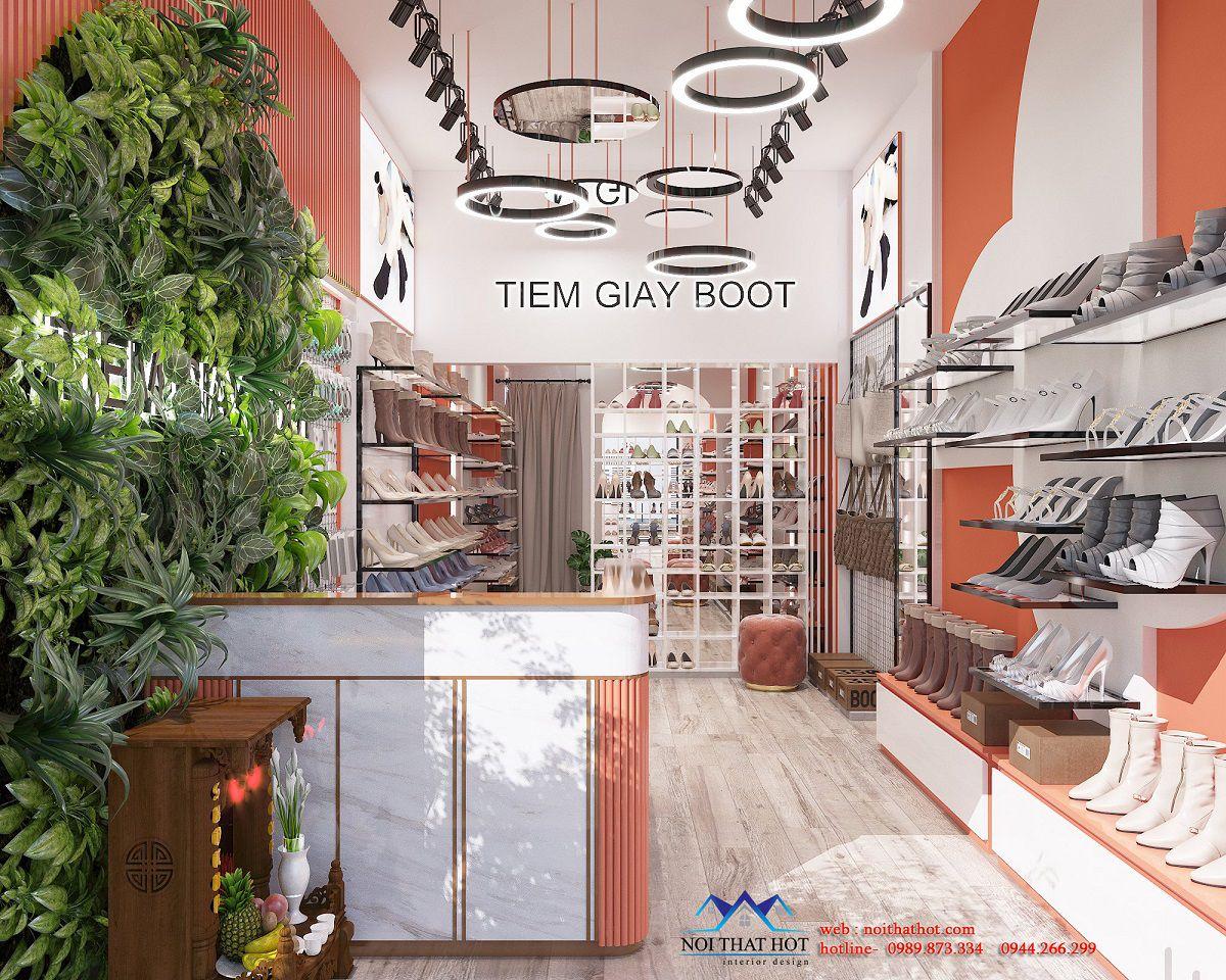 thiết kế tiệm giày boot
