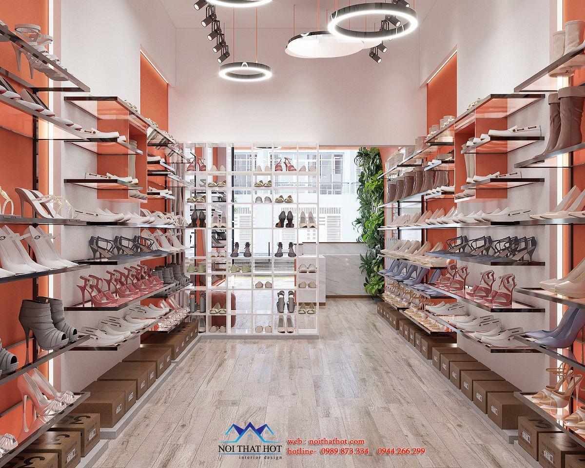 thiết kế tiệm giày đẹp