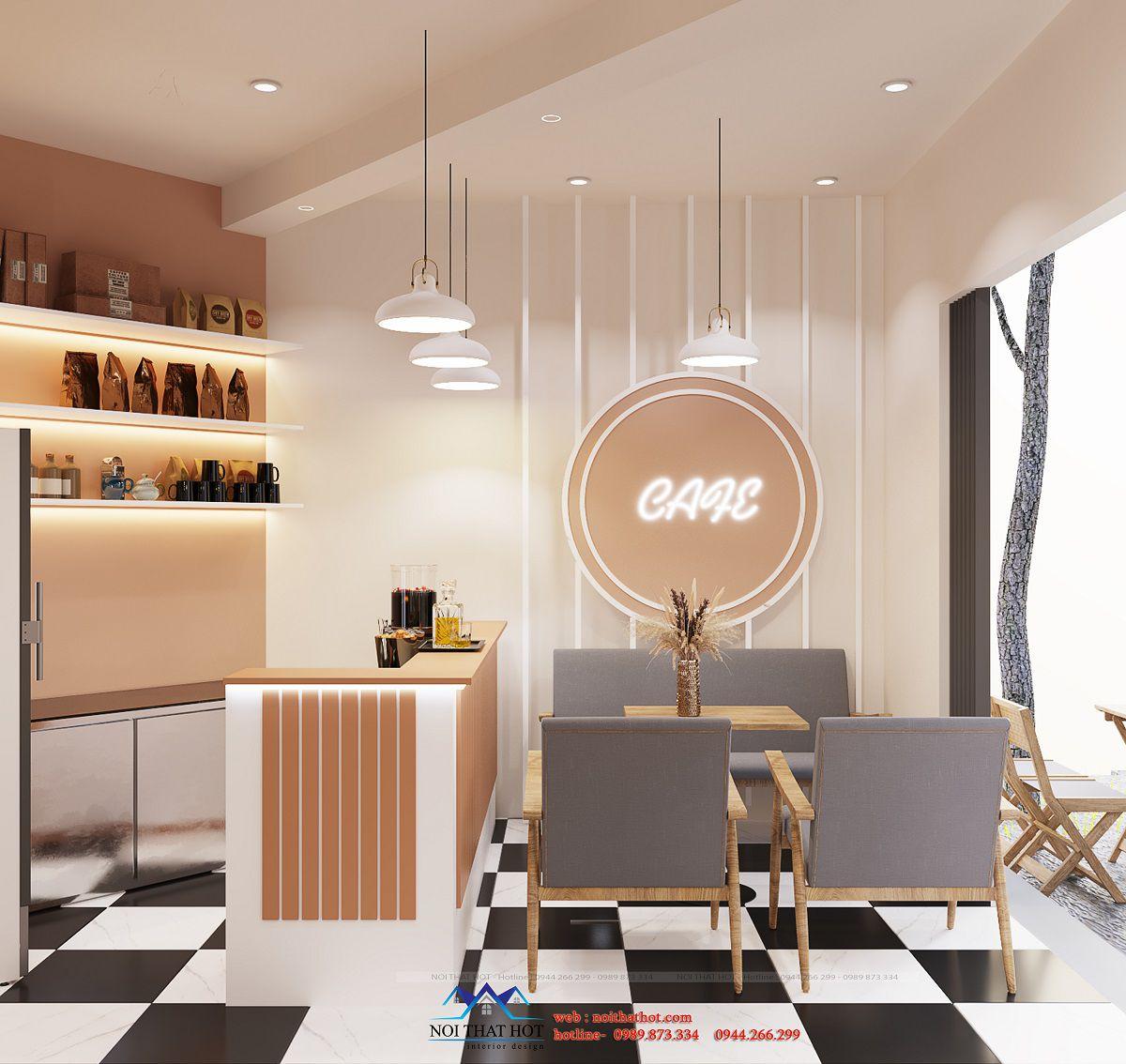 thiết kế quán cafe 140m2