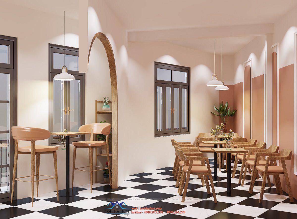 bài trí nội thất quán cafe
