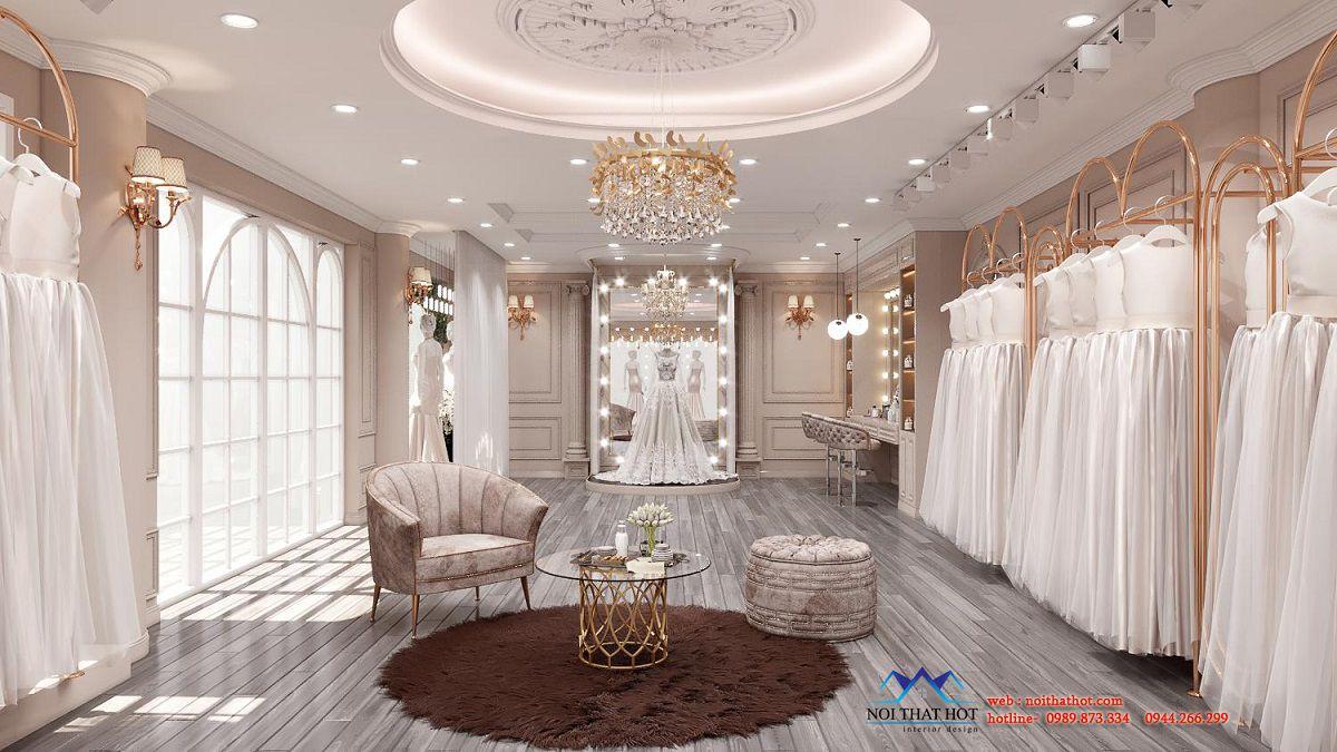 thiết kế showroom váy cưới