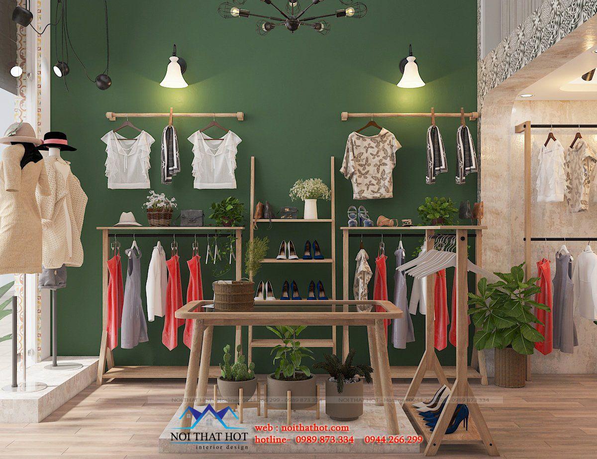 thiết kế shop thời trang vintage