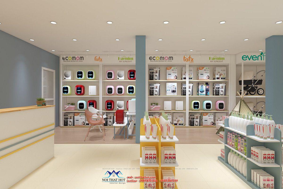 thiết kế nội thất shop mẹ và bé