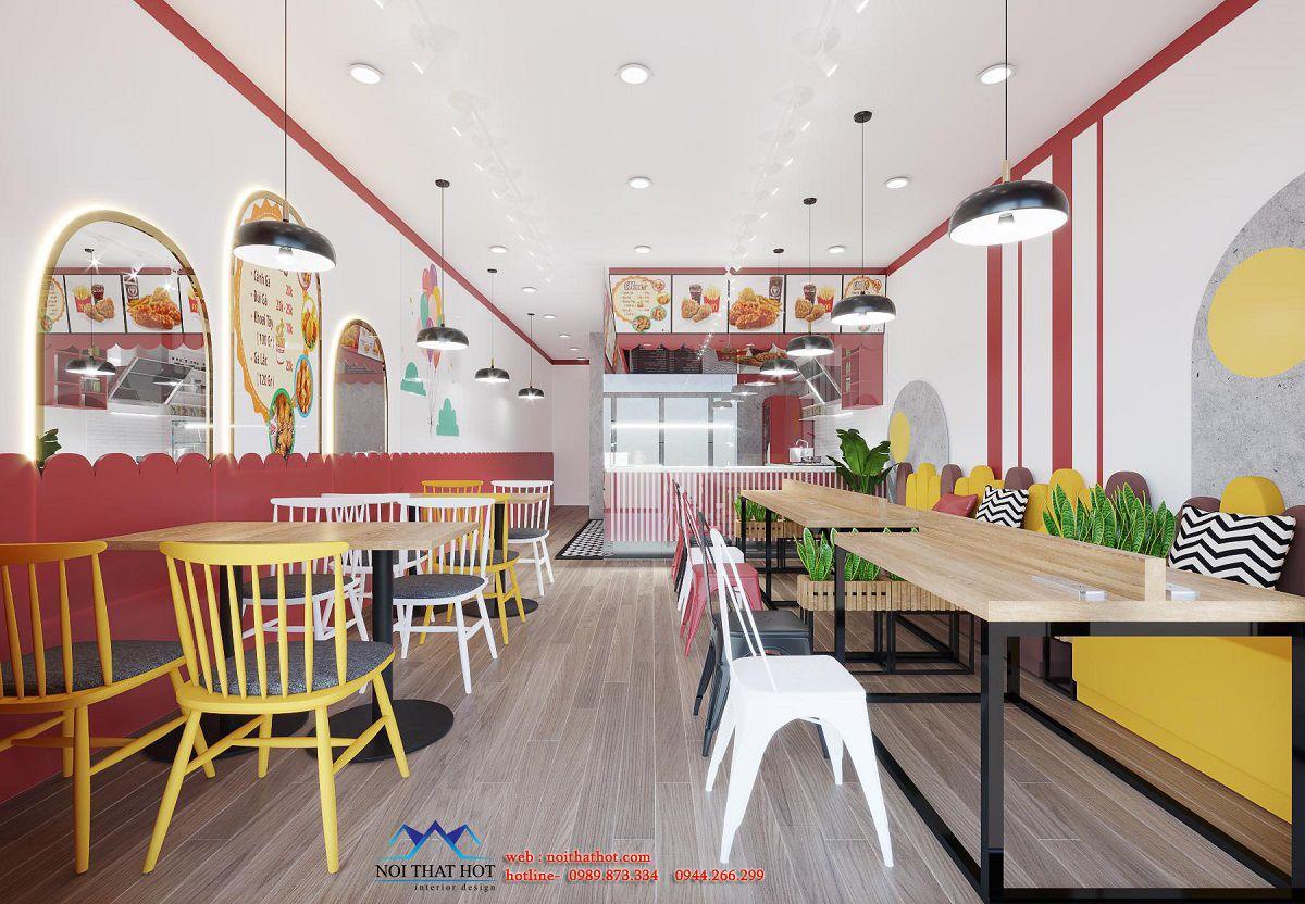 thiết kế cửa hàng gà rán hà nội