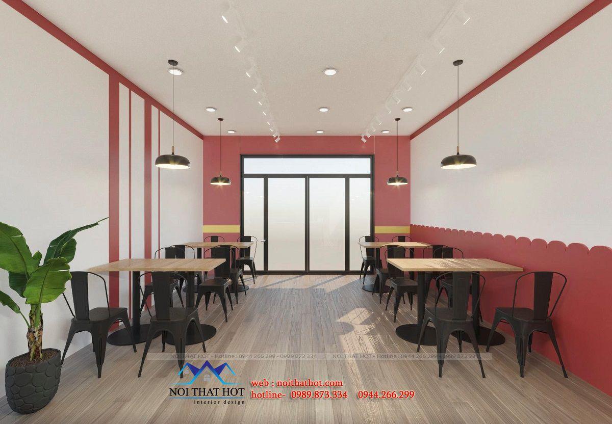 thiết kế nội thất quán gà rán
