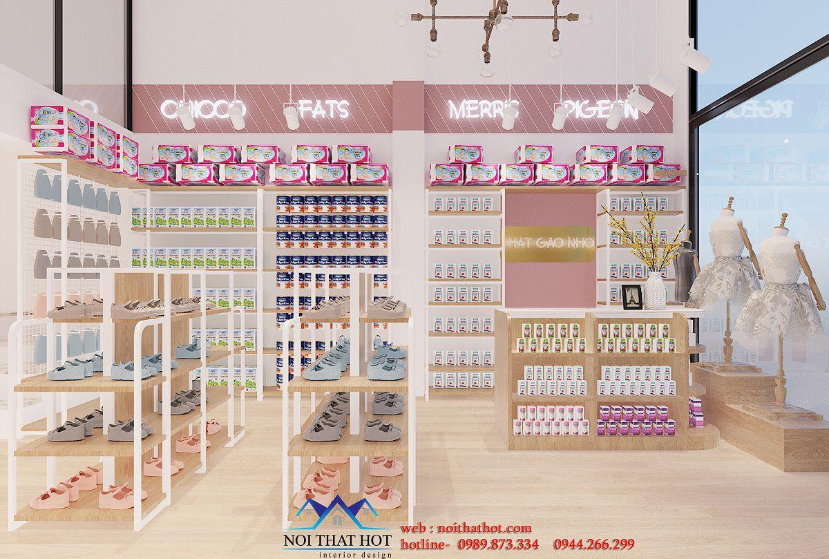 thiết kế shop mẹ và bé 120m2