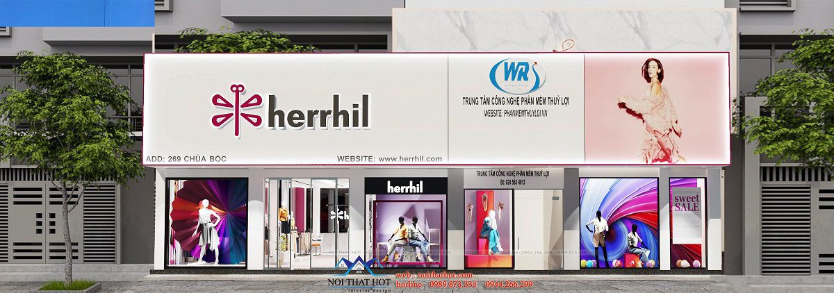 thiết kế shop thời trang nữ 150m2