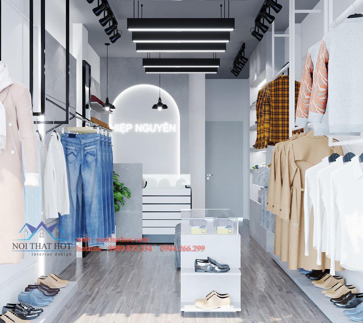 Thiết kế shop quần áo 30m2