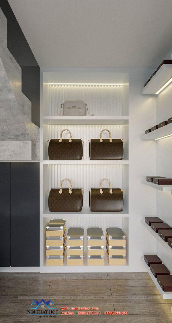 tủ trưng bày ví cầm tay