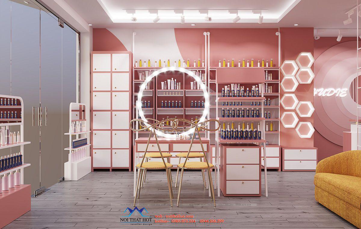 thiết kế shop mỹ phẩm hà nội