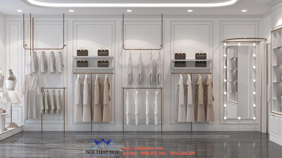 Thiết kế nội thất shop thời trang30m2