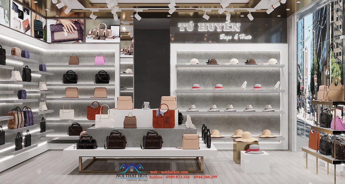 tủ trưng bày túi xách