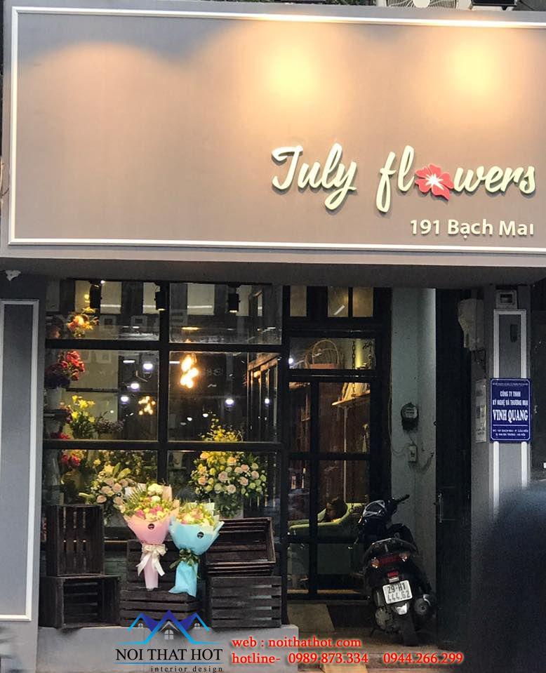 thi công nội thất cửa hàng hoa