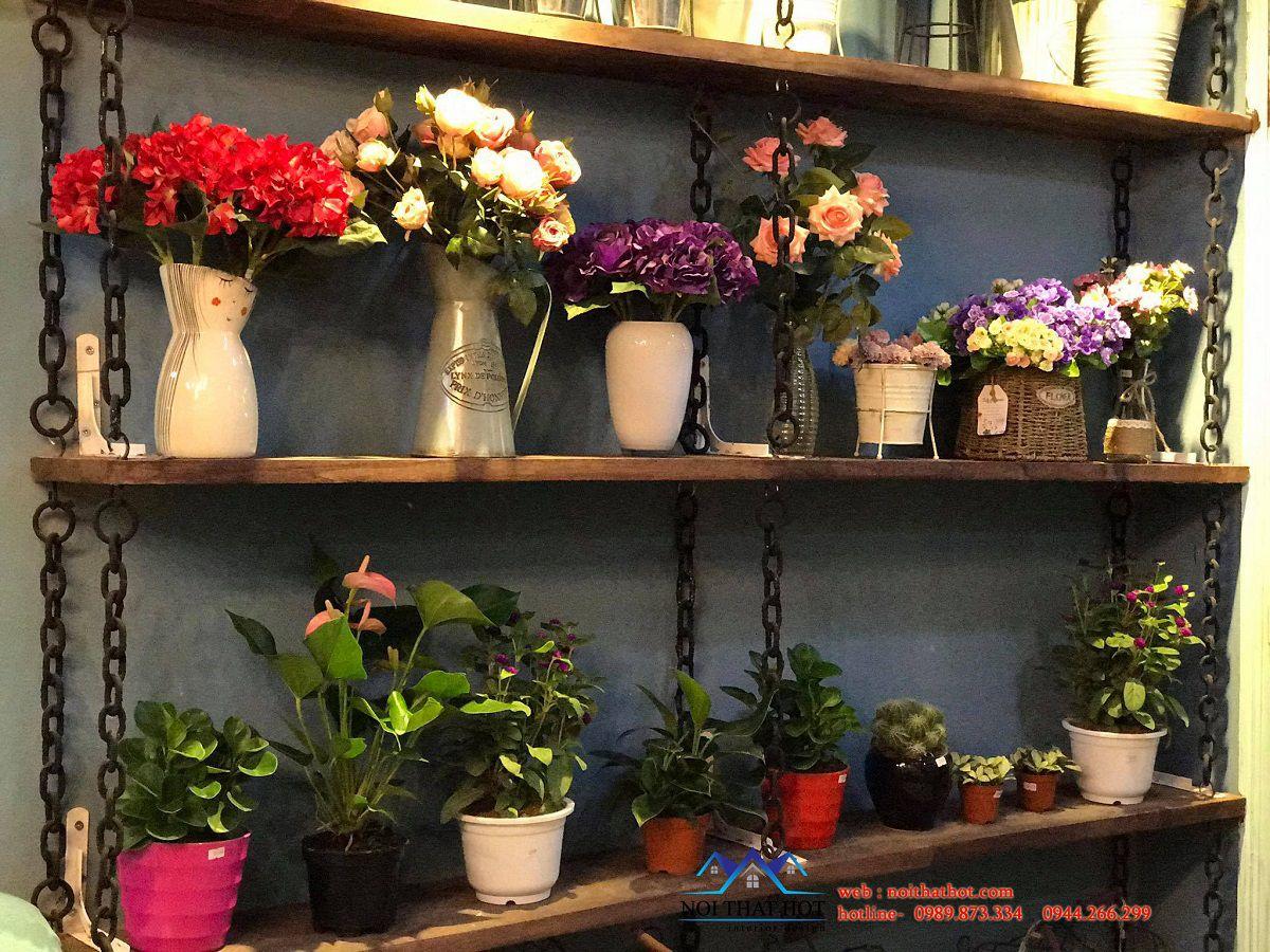 bài trí nội thất cửa hàng hoa