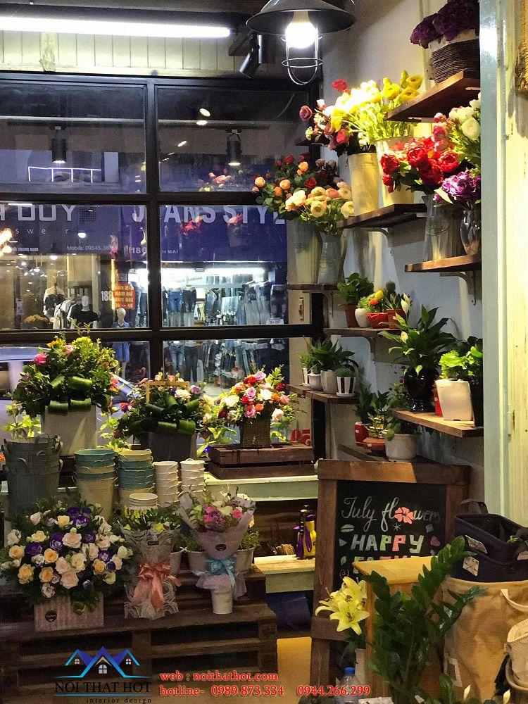 mẫu shop bán hoa tươi