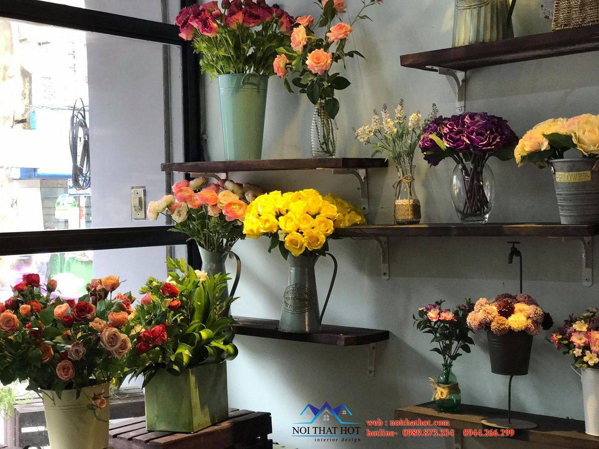 bài trí nội thất shop hoa