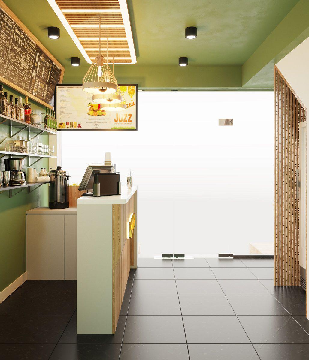 Thiết kế cửa hàng nước tại Hà Nội