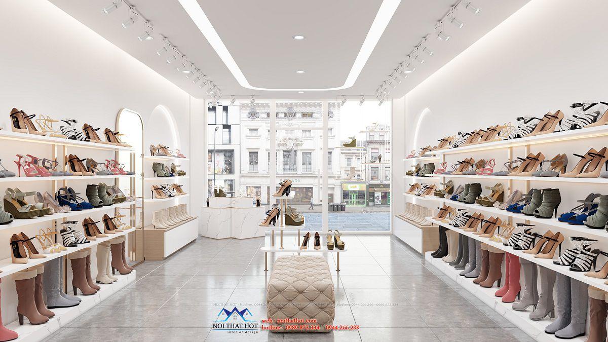 thiết kế shop giày hà nội