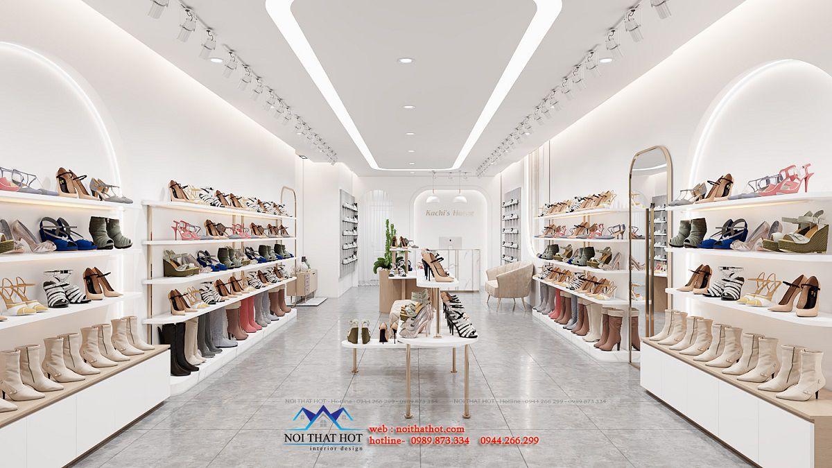 thiết kế shop giày 50m2