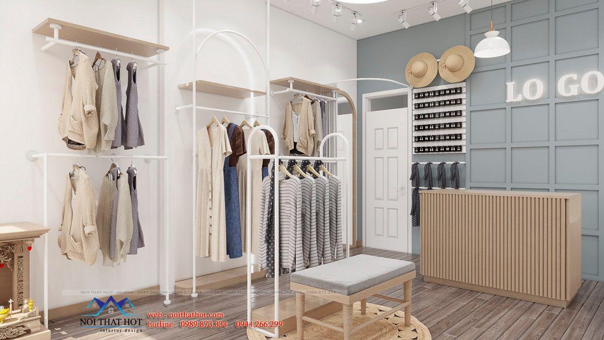 thiết kế shop thời trang nữ 30m2
