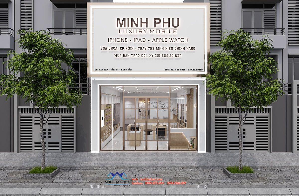 thiết kế shop điện thoại 80m2