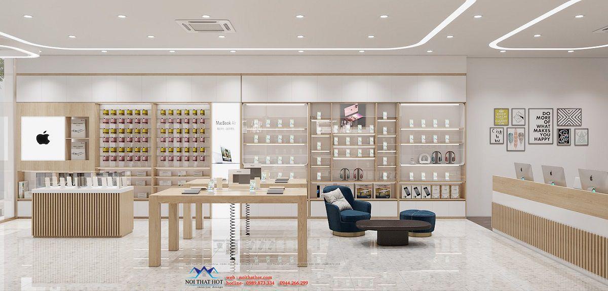 thiết kế cửa hàng điện thoại