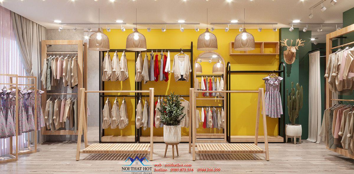 thiết kế shop thời trang hợp mệnh kim