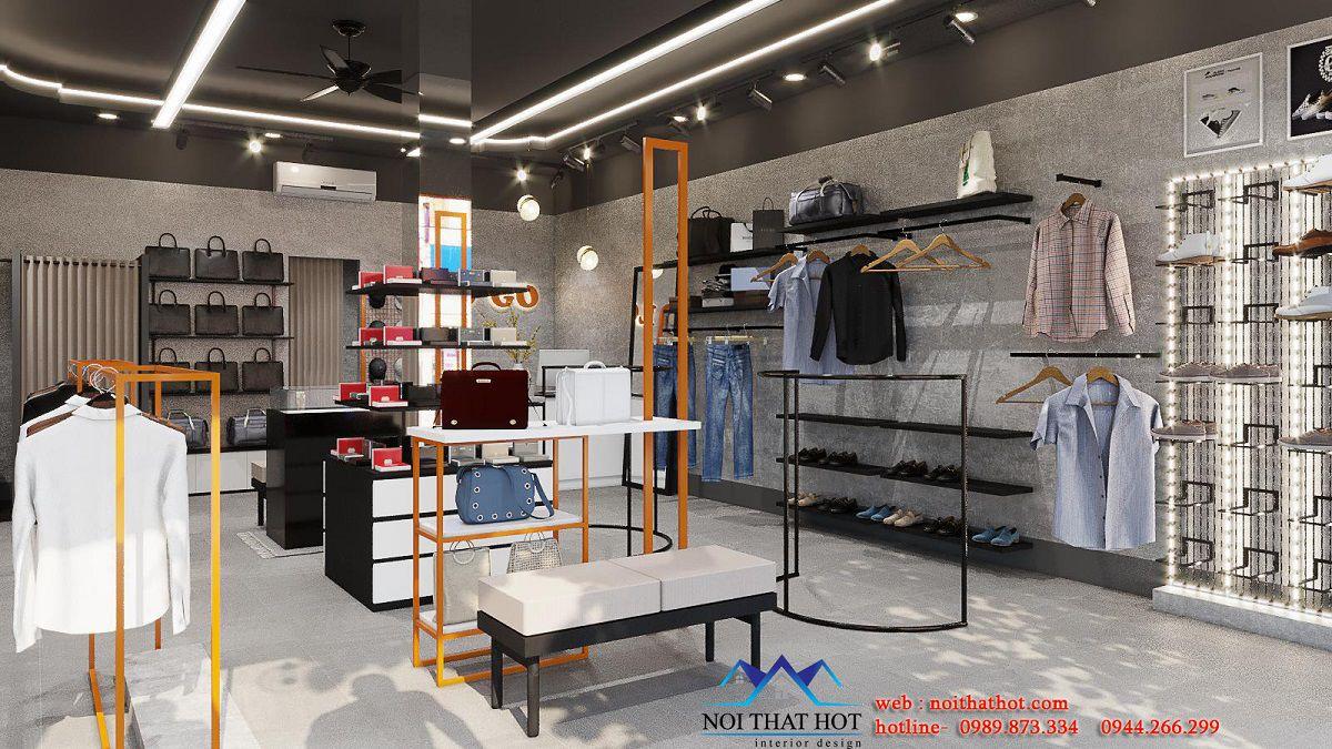 thiết kế shop thời trang nam 50m2