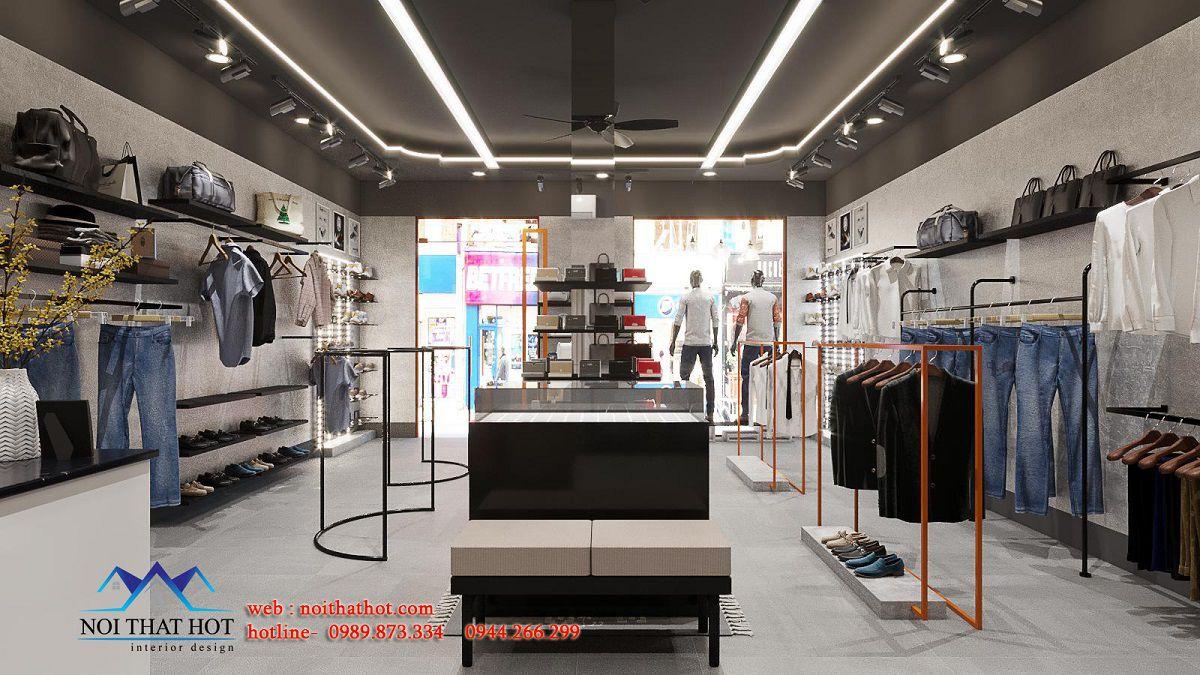thiết kế shop quần áo nam Hà Nội