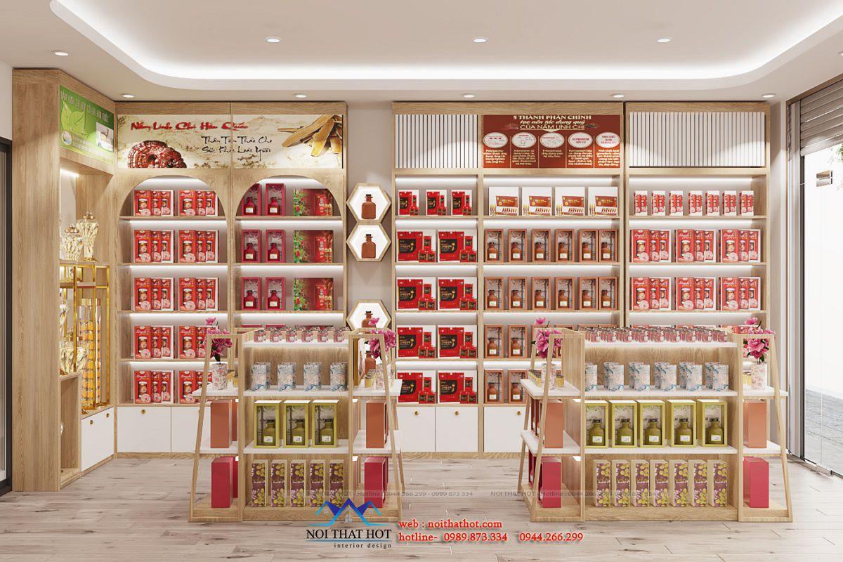 thiết kế shop bán nấm linh chi