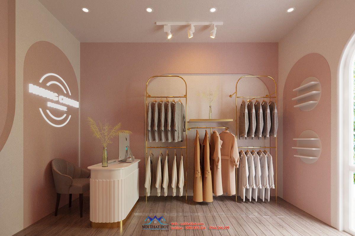 thiết kế shop quần áo diện tích nhỏ