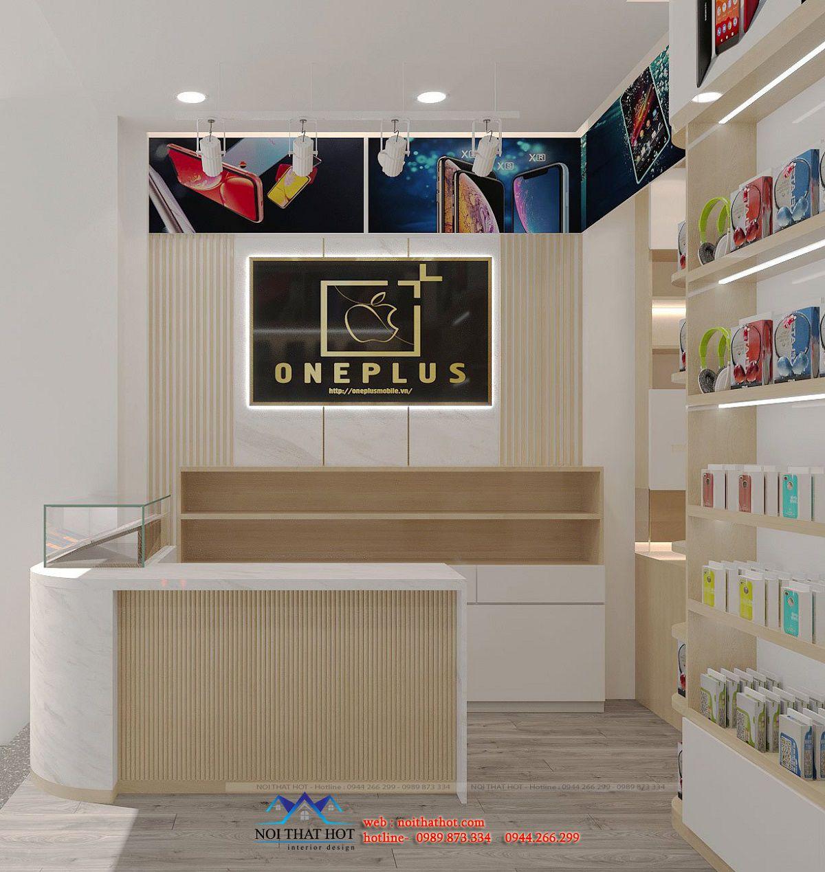 vách logo cửa hàng nhỏ