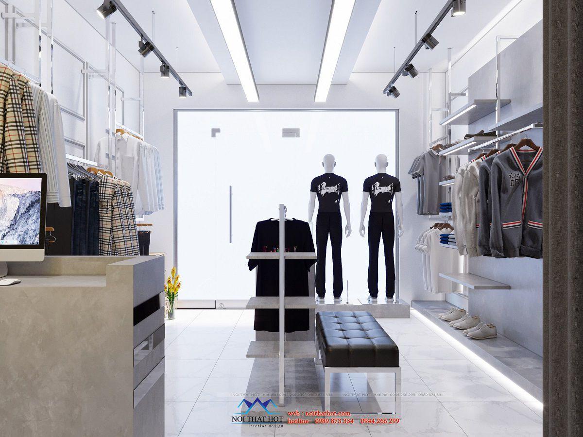 thiết kế shop quần áo