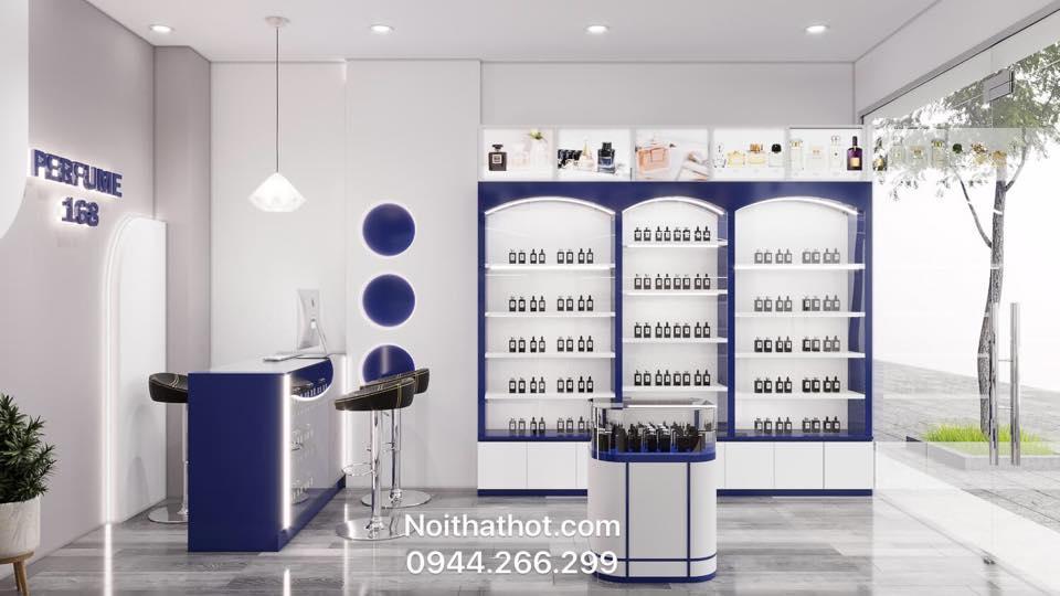Thiết kế cửa hàng nước hoa cao cấp