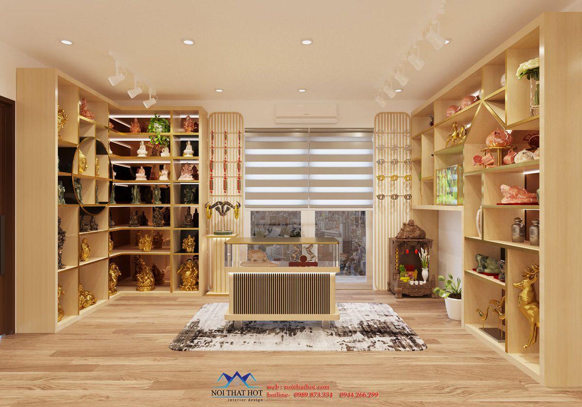 thiết kế shop bán đá phong thủy