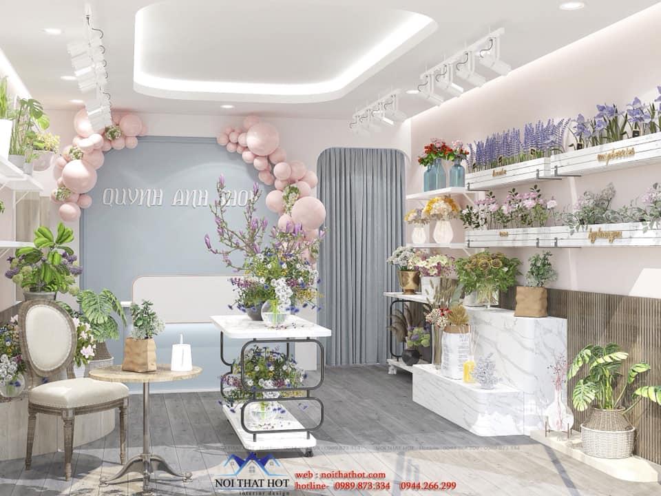 thiết kế cửa hàng hoa hà nội