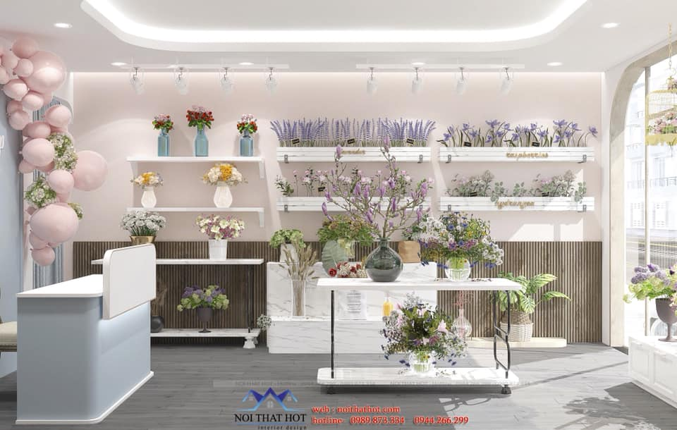 thiết kế nội thất shop hoa