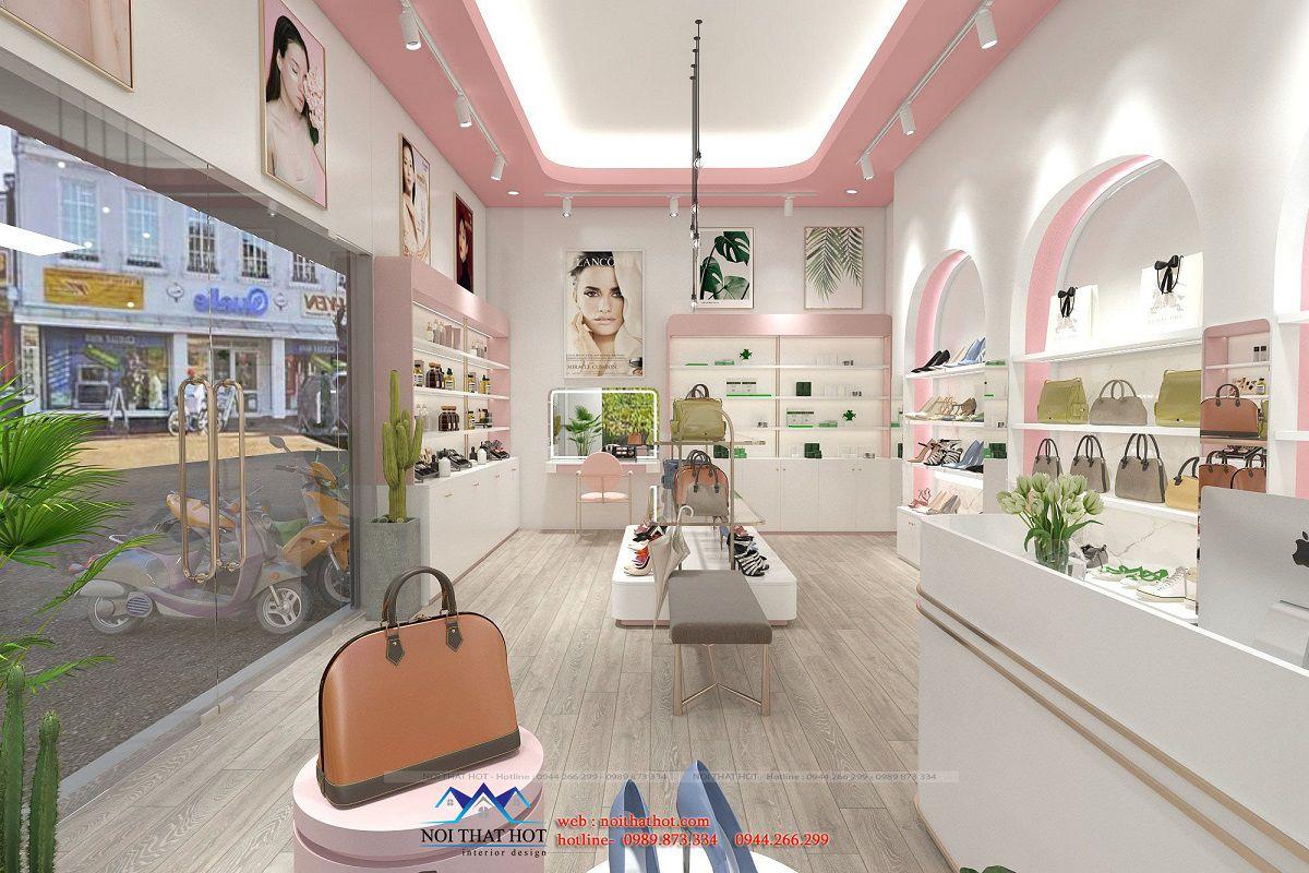 thiết kế nội thất shop mỹ phẩm